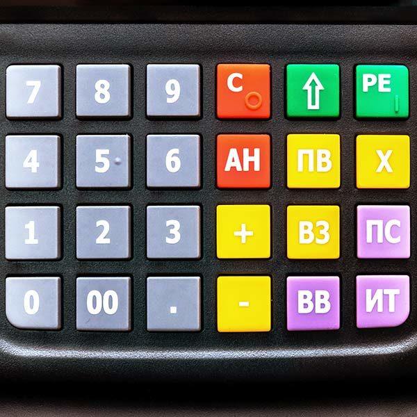 Онлайн-касса Атол-90ф клавиатура