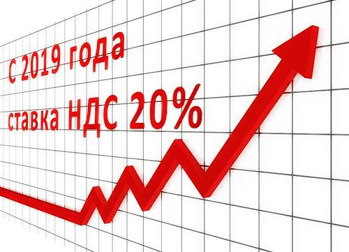 НДС 20% 01.01.2019